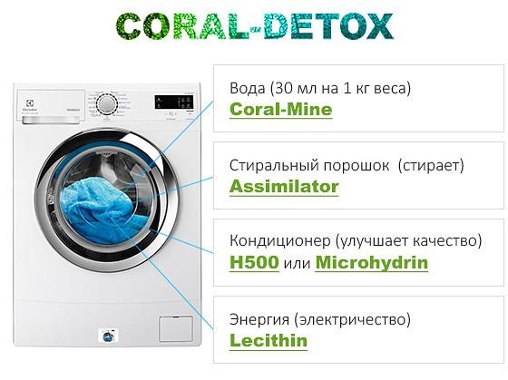 Программа Корал Детокс - стиральная машина для очситки организма